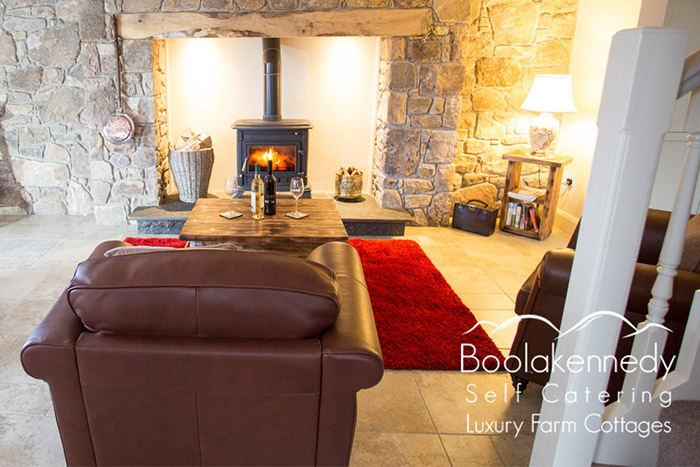 John's Dairy Living Room luxury Accommodation